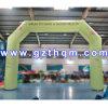 Voûte gonflable rouge d'air avec des logos/vert personnalisé annonçant la voûte gonflable pour la promotion