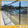 Railing/поручень нержавеющей стали самомоднейшей конструкции стеклянные для балкона и лестниц, загородки