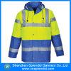 Синь видимости оптовой зимы Mens высокая отражательная куртка