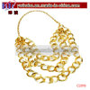 Jóia da jóia de traje da colar da corrente do ouro de Bling ajustada (C2019)
