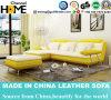 Sofá do couro amarelo e branco da forma para a sala de visitas Home (HC1081)