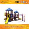 de 114mm Gegalvaniseerde Post Kleurrijke Hexagon Apparatuur van de Speelplaats van de Kinderen van het Dek Openlucht