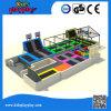 Parque comercial de salto redondo do Trampoline da base do tirante com mola de Kidsplayplay