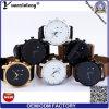 Relógio resistente luxuoso do homem de 6 mãos da água do pulso 3ATM do relógio dos homens do couro genuíno do relógio dos homens novos da boa qualidade do projeto Yxl-090