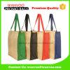 Рециркулируйте складные хозяйственные сумки джута мешков Tote холстины мешка хлопка