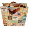 Sac personnalisé de cadeau d'achats de papier de panneau de carte d'impression de conception