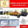 Ztechのブランド機械3つの層のPEの空気泡フィルム作成