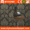 Deep preto Embossed Wall Paper para Decoration