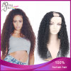 Curly profundo 1b# Virgin brasileño Hair U Parte Wig