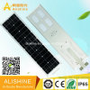Mono luz de calle solar integrada del panel solar 50W LED con la batería de litio LiFePO4