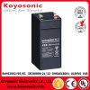 Boa bateria acidificada ao chumbo selada 4ah de qualidade 4V para o sistema do UPS