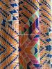 Tela anaranjada de la impresión del triángulo para la ropa de deportes (HD1401111)