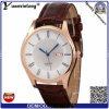 Relógios 2016 feitos sob encomenda do negócio do movimento de Japão do couro do relógio dos homens do calendário da tâmara do tipo da fábrica Yxl-391