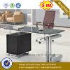 까만 탁상용 사무용 가구 안정되어 있는 구조 행정실 책상 (NS-GD031)
