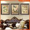 جميل زهرة صورة زيتيّة جدار فنية على نوع خيش يستعمل في فندق زخرفة