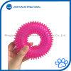 Juguetes chillones del Chew del perro durable para el entrenamiento dental agresivo y jugar de la limpieza de boca de los dientes de Chewers [caucho suave no tóxico], diseño lindo del anillo del cristal TPR