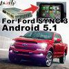 GPSのアンドロイド5.1の運行ビデオInterfa⪞ フォード(同期信号G≃)のためのE