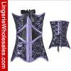 Corsé atractivo de la ropa interior floral púrpura de la cintura de la manera