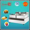Df-E02 deux friteuse profonde électrique de système des paniers deux des réservoirs deux fabriquée en Chine