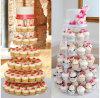 7 Reihe-freie Acrylhochzeits-Geburtstag-Kuchen-Bildschirmanzeige