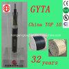 El cable de fibra óptica trenzado al aire libre del tubo flojo de la base de GYTA 12 con el solo modo para el conducto enterró