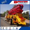 品質25m 28m 33mのコンクリートブームポンプトラックの中国の製造者Dawin