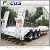 80t de Lowbed/bas de paquet de chargeur de cargaison remorque inférieure hydraulique de camion semi