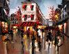 Peinture à l'huile de paysage de Paris