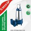 bomba submergível da água de esgoto do impulsor da estaca do ferro de molde da embalagem de aço 1.1kw/1.5HP inoxidável para a água suja