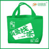 Wholesale Discount Green Not Woven Shopping Bag with Handles