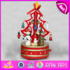 2015 il natale Tree Wooden Mini Music Box per Kids, Christmas variopinto Tree Wooden Music Box, Best Music Toy per Christmas W07b008b