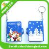 Cahier de trousseau de clés de PVC 3D de logo d'OEM de cadeaux de promotion mini