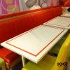 4 tabelas de jantar retangulares de pedra artificiais de Seater