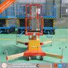 Levage hydraulique simple élevé de mât d'alliage d'aluminium