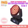 RGBWA+UV 6 in 1 36X18W RGBWA UVWash Zoom LED Moving Head Light