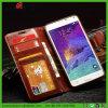Caisse en cuir de portable d'unité centrale de chiquenaude en gros de livre pour l'iPhone Samsung