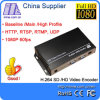 Grube E1001 H. 264 VGA Video Encoder für IPTV, Live Stream Broadcast Rtmp HTTPRtsp VGA IPTV Video Encoder mit 1 CH Looping heraus