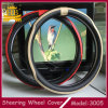 Nueva cubierta de rueda de Steeirng del cuero de la fibra del diseño 2016