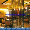 Hairline Finish Stainless Steelホテルの部屋DividerおよびRestaurant部屋Screenが付いている304青銅