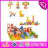 2015 Novo item Colorido bricolage brinquedo bloco de construção, crianças blocos de construção de partículas de madeira, crianças baratas 78 PCS Bloco de construção W13A075