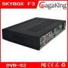 Schwarzer Fernsehapparat-Empfänger Skybox F3