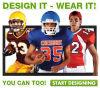 Uniformes en gros personnalisés par coutume du football de basket-ball de base-ball du football