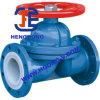 Válvula de diafragma industrial da flange do forro do aço de molde PTFE de API/DIN/JIS