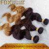 Ombreの毛のバージンの毛の拡張ブラジルの毛の織り方の100%年のRemyの人間の毛髪(FDX-BHBW)