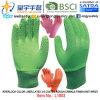 Вкладыш цвета блокировки, перчатки латекса 3/4 покрытые (L1803), грубая отделка Crinkle, запястье руки Knit с CE, En388, En420, перчатками работы