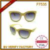 Солнечные очки пластмассы зерна горячего сбывания F7535 деревянные