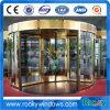 Porta giratória dourada da circulação do hotel da cor