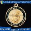 Metal de oro del deporte de los fabricantes del medallón del laminado del acollador para el recuerdo