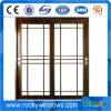 Doppeltes glasig-glänzende Glastür/Aluminiumwindows-und Tür-Gitter-Entwurf mit Innere-Vorhängen