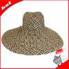 Chapéu de palha do Raffia da mistura de cor